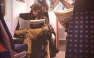 Jack the Sparrow in the subway