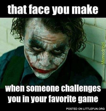 When someone challenges you