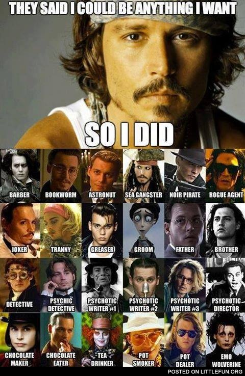 Johnny Depp and his roles