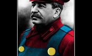 Stalin in a Mario outfit