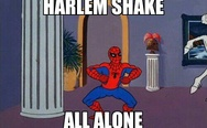 Harlem shake with spider man