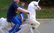 Haters gonna hate. Unicorn bike.