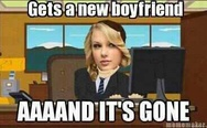 Taylor Swift gets a new boyfriend