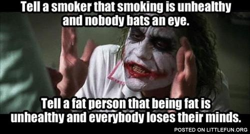 Being fat is unhealthy