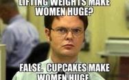 Cupcakes make women huge