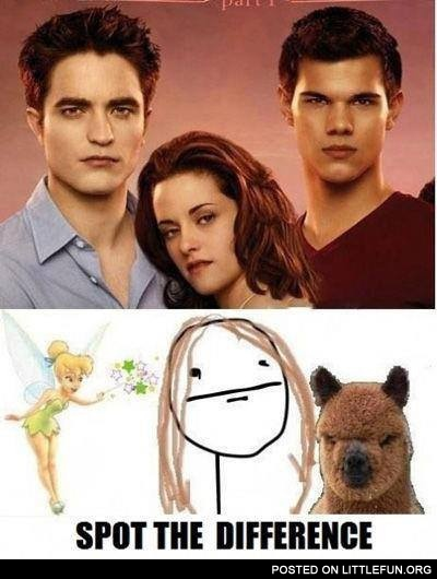 Twilight. Spot the difference