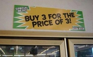 Buy 3 for the price of 3!