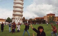 Pisa Tower. Everybody was Kung-Fu fighting.