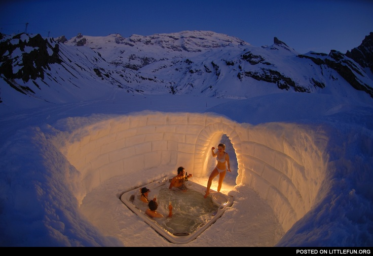 Switzerland Matterhorn Outdoor Jacuzzi