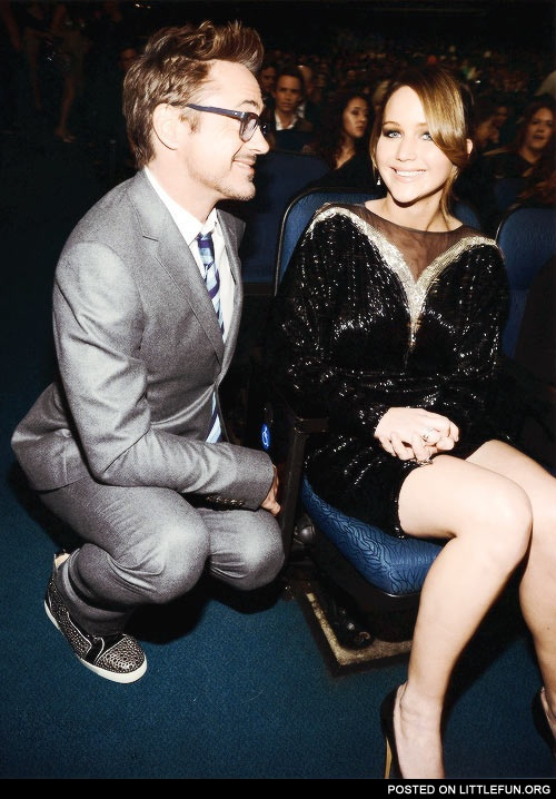 Robert Downey Junior and Jennifer Lawrence