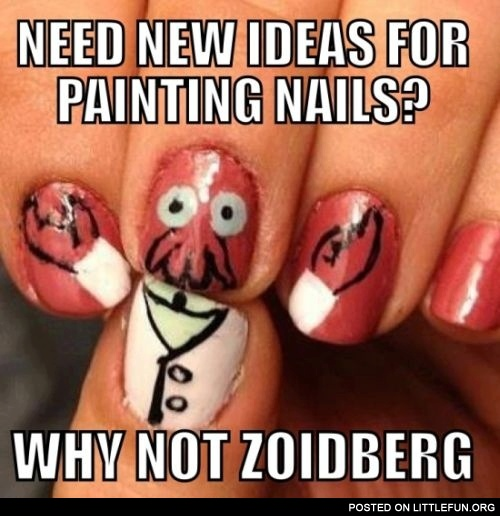 Need new ideas for painting nails? Why not Zoidberg?