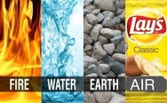 Fire, water, earth, air