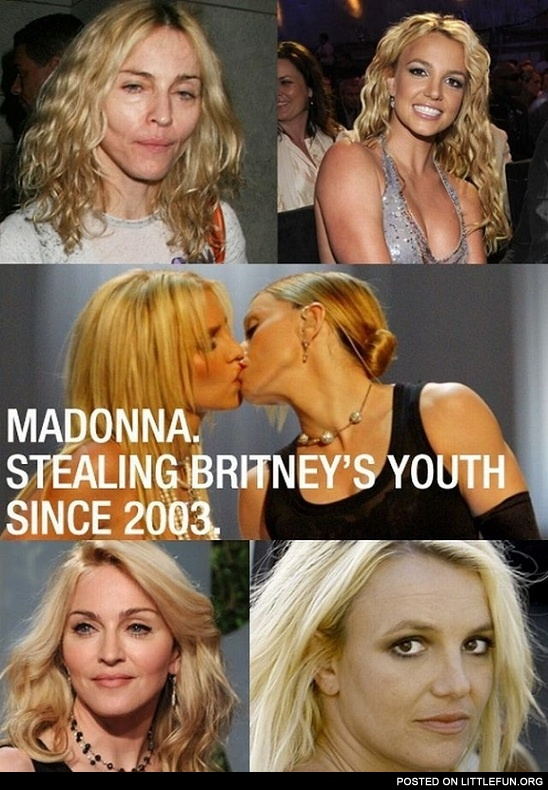 Madonna stealing Britney's youth