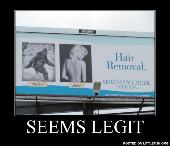 Hair removal. Spa ad.