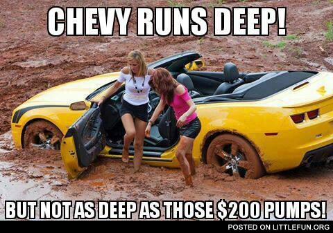 Chevy and pumps