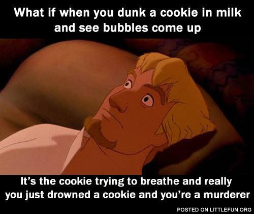 Cookie in milk