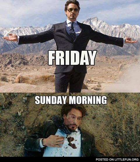 Friday vs. Sunday morning