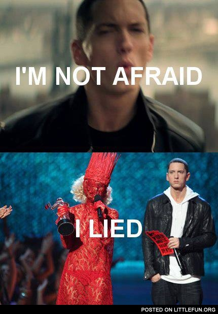 Lady Gaga scared Eminem