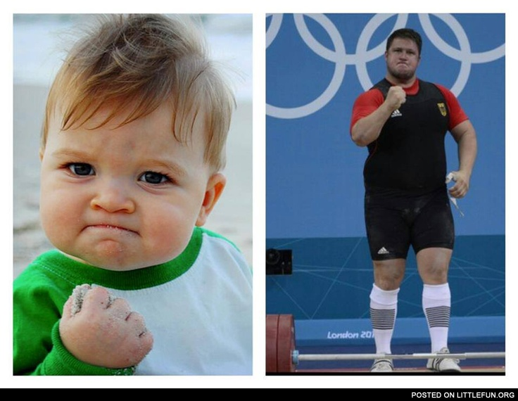 Successful kid at the Olympic games