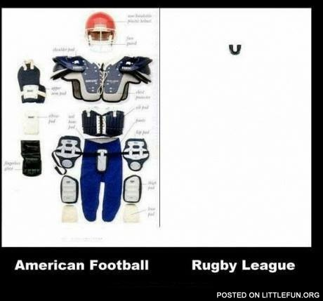 American football vs. Rugby league