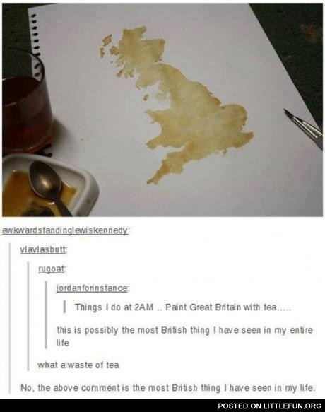 Paint Great Britain with tea