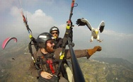 The eagle and skydiver