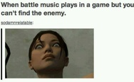When battle music plays