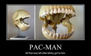 The scull of pac-man