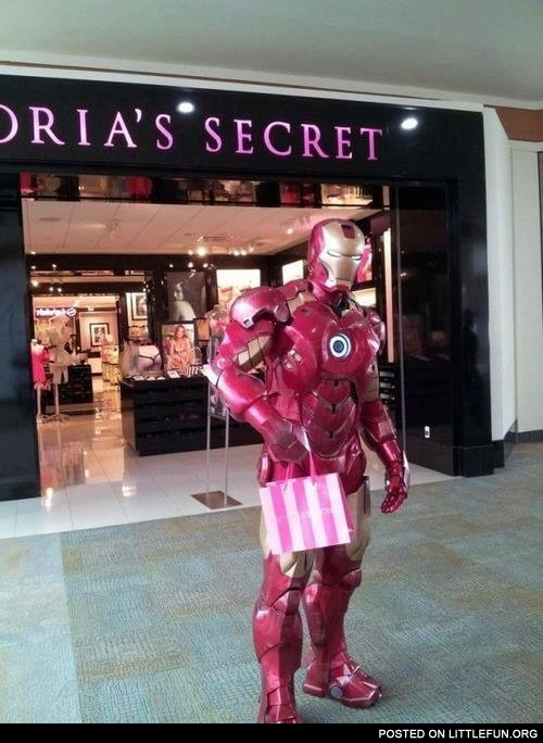 Iron man and the Victoria's Secret