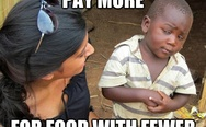 You pay more for food with fewer calories?