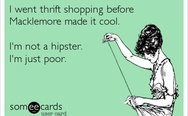 Thrift shopping