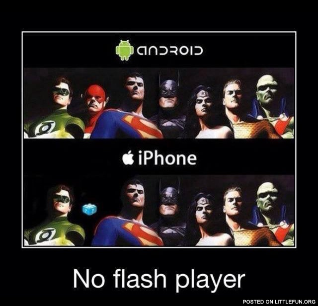 iPhone has no flash player