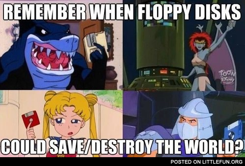 Remember when floppy disks could save/destroy the world?