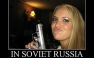 In Soviet Russia ducks hunt you