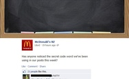 McDonald's secret code word