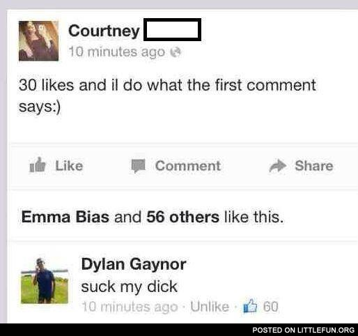 30 likes and I do what the first comment says