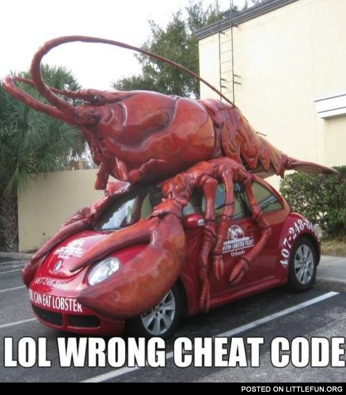 LittleFun - LOL, wrong cheat code. Lobster car.