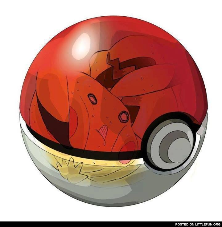 Pikachu in pokeball