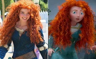 The woman playing Merida at Disney World