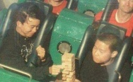 Play Jenga on a rollercoaster