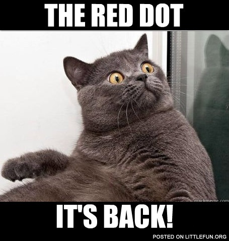 The red dot, it's back