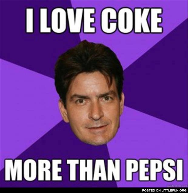 I love coke more than pepsi