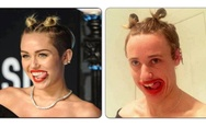 Miley Cyrus vs. Unknown man