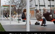 Bus stop in Montreal