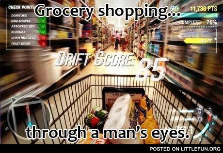 Grocery shopping through a man's eyes