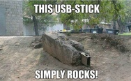 This usb-stick simply rocks!