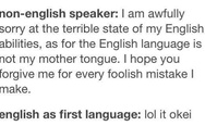 English speaker vs. non-english speaker