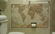 World map in toilet