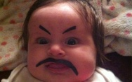 Baby with mustache