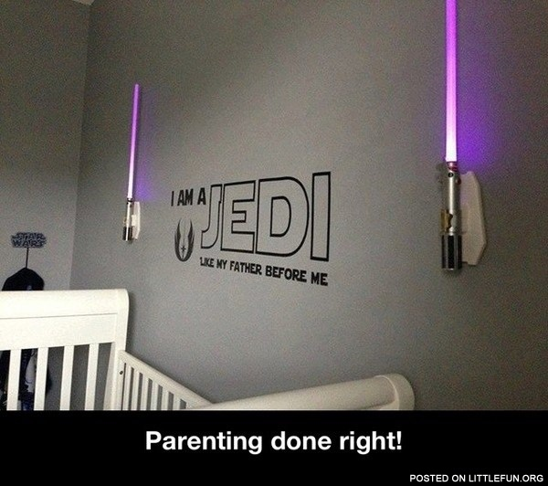 Jedi crib. Parenting done right!